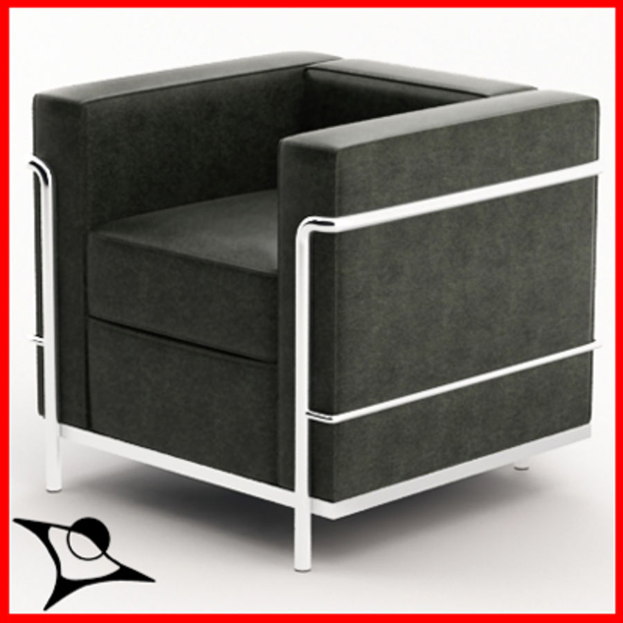le corbusier lc2 3d model 9 obj fbx max free3d. Black Bedroom Furniture Sets. Home Design Ideas