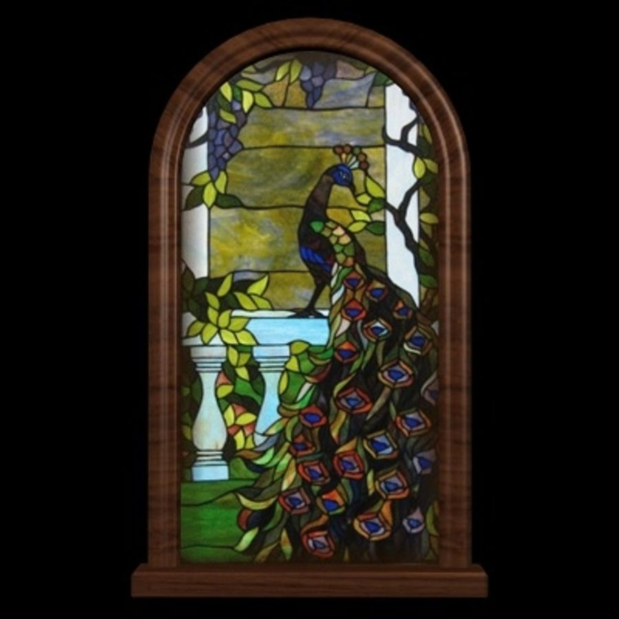 WD Peacock Window royalty-free 3d model - Preview no. 3