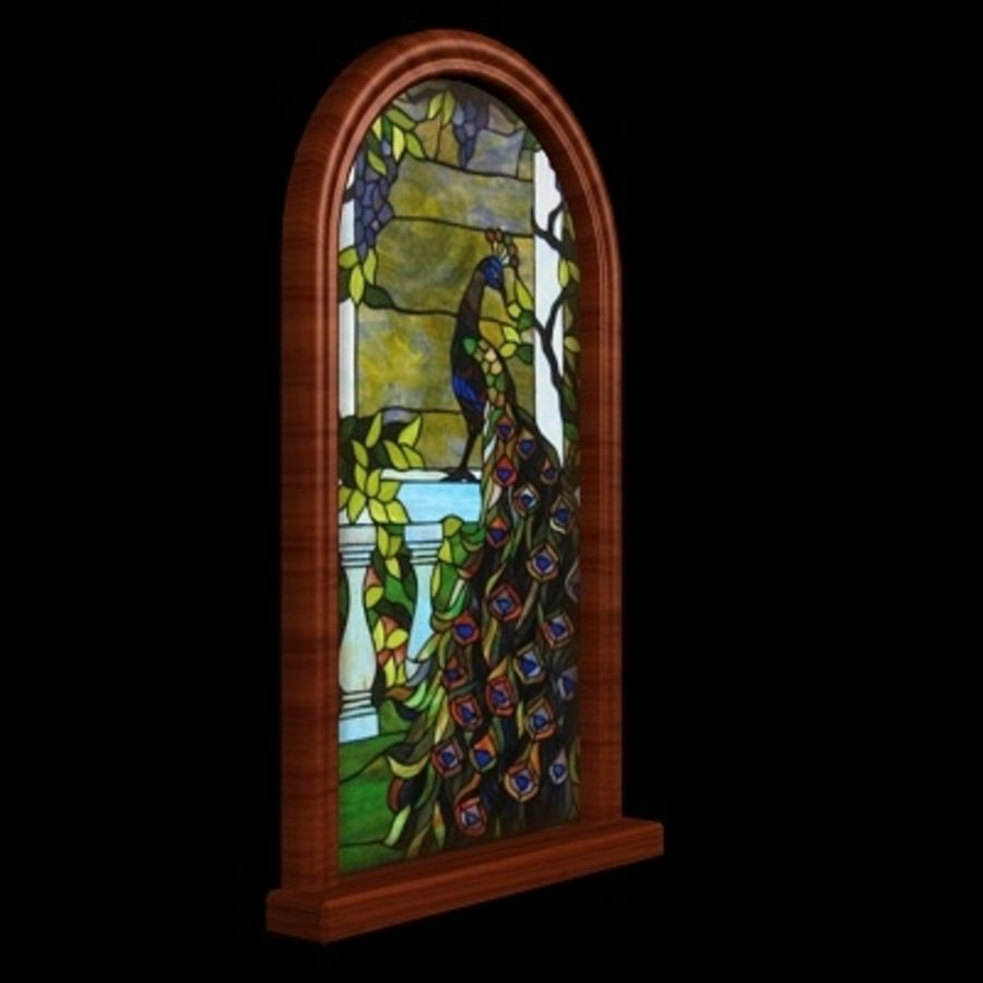 WD Peacock Window royalty-free 3d model - Preview no. 4