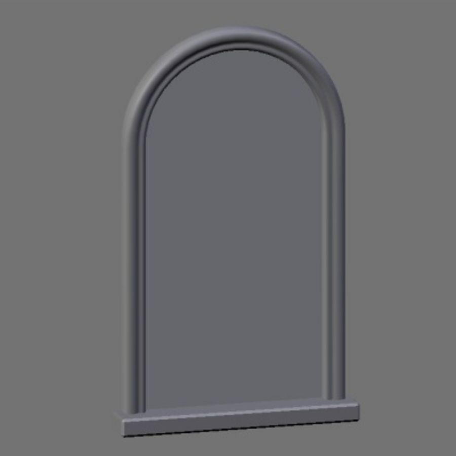 WD Peacock Window royalty-free 3d model - Preview no. 5