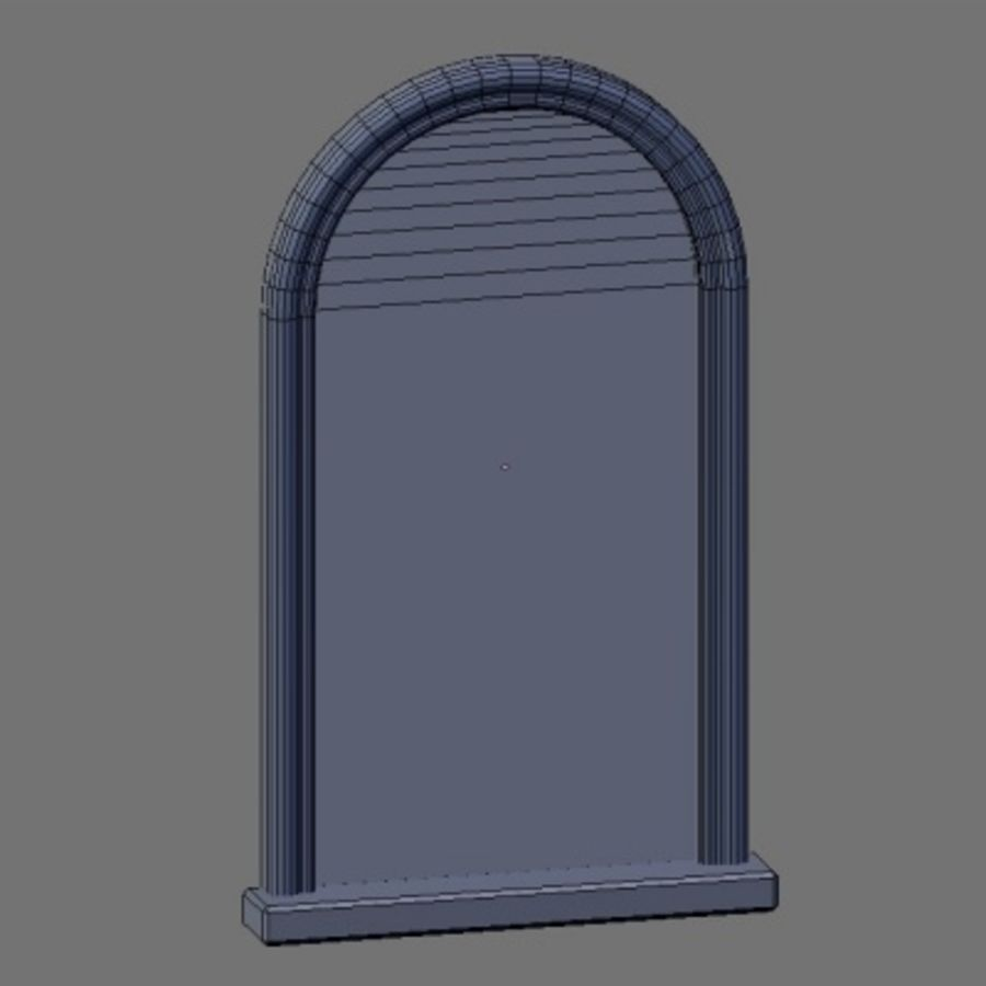 WD Peacock Window royalty-free 3d model - Preview no. 6