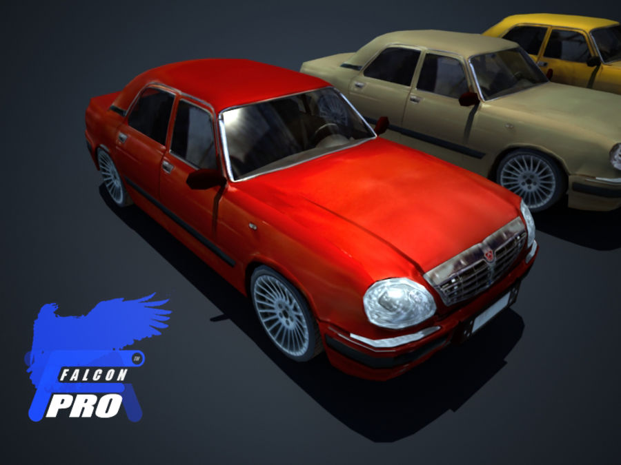 Wolga Gaz 3111 - Russisches modernes Auto royalty-free 3d model - Preview no. 2