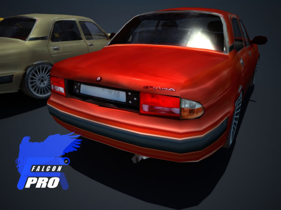 Wolga Gaz 3111 - Russisches modernes Auto royalty-free 3d model - Preview no. 3
