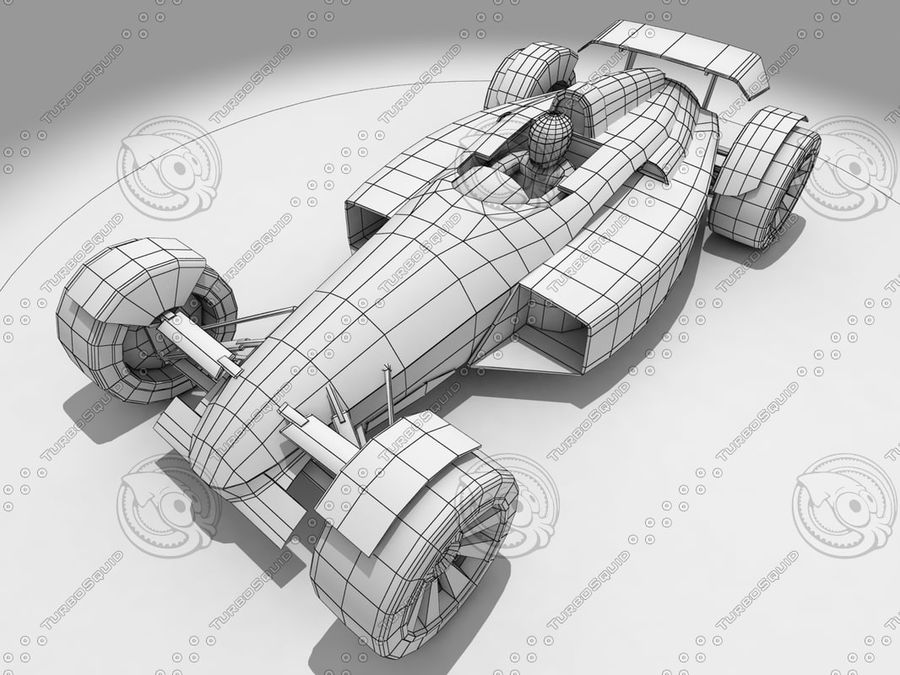 Track Mania Stadium Car royalty-free 3d model - Preview no. 3