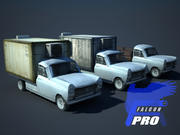 Old french pickup 3d model
