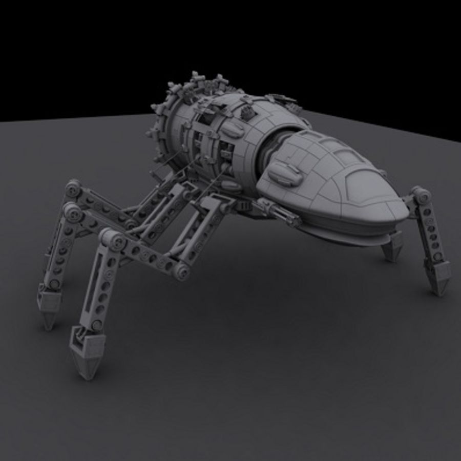 Spider Robot royalty-free 3d model - Preview no. 3
