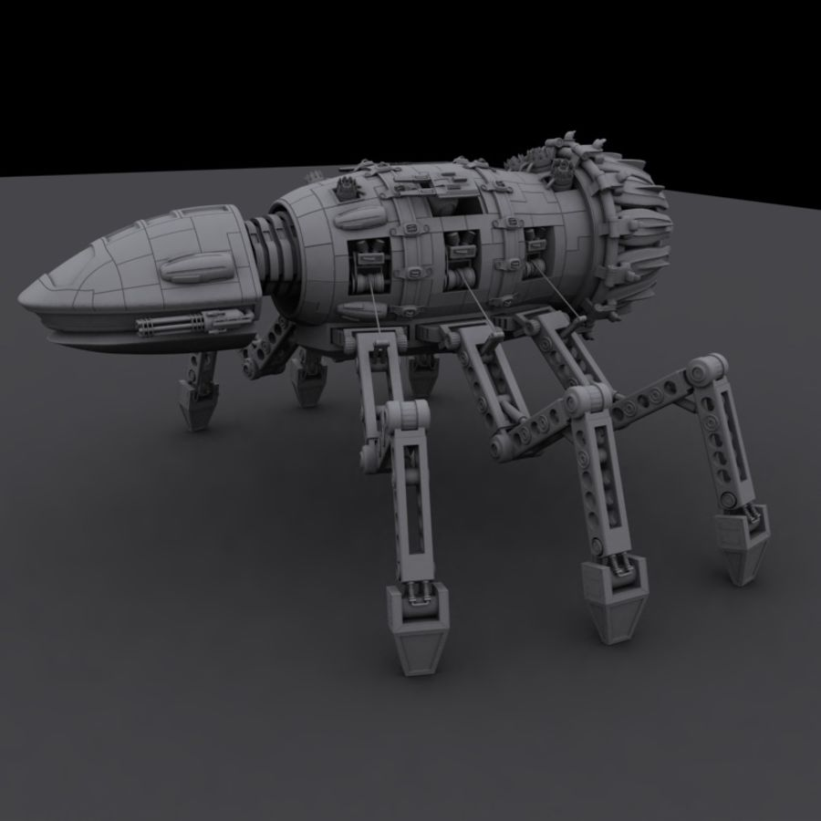 Spider Robot royalty-free 3d model - Preview no. 2