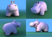 Hippopotamus toy 3d model