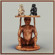 Sculpture table 3d model