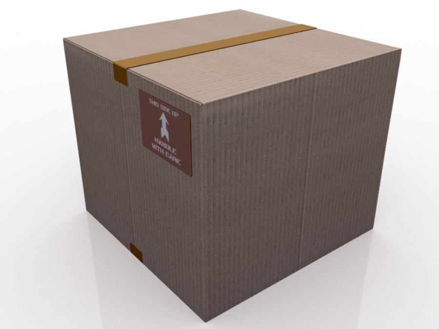 Palette and boxes royalty-free 3d model - Preview no. 4