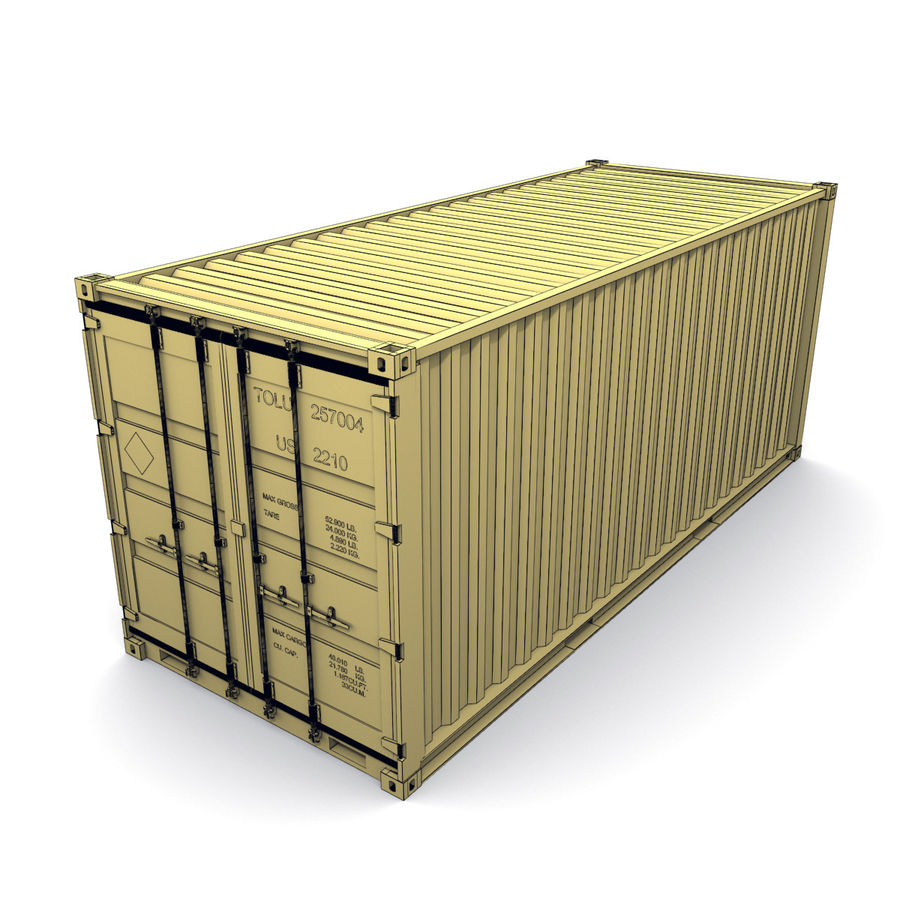 Shipping Container royalty-free 3d model - Preview no. 10