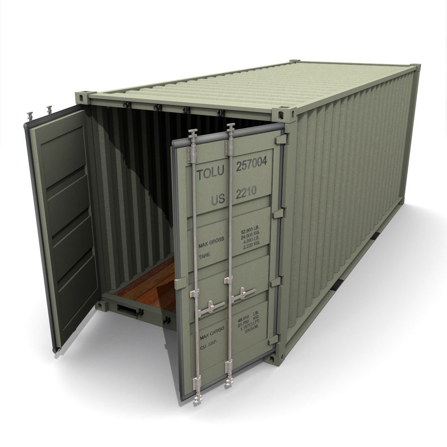 Shipping Container royalty-free 3d model - Preview no. 4