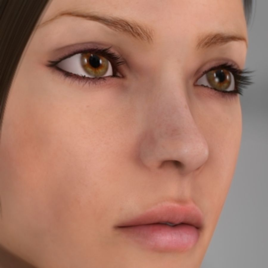 Sonia_head royalty-free 3d model - Preview no. 6