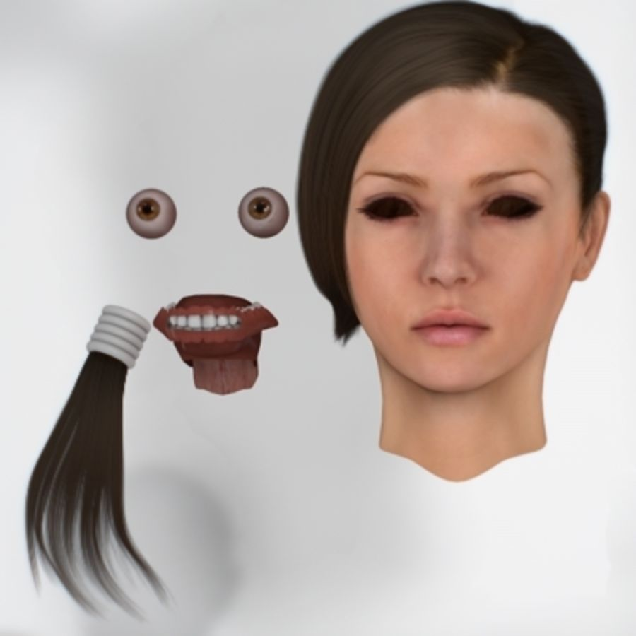 Sonia_head royalty-free 3d model - Preview no. 7