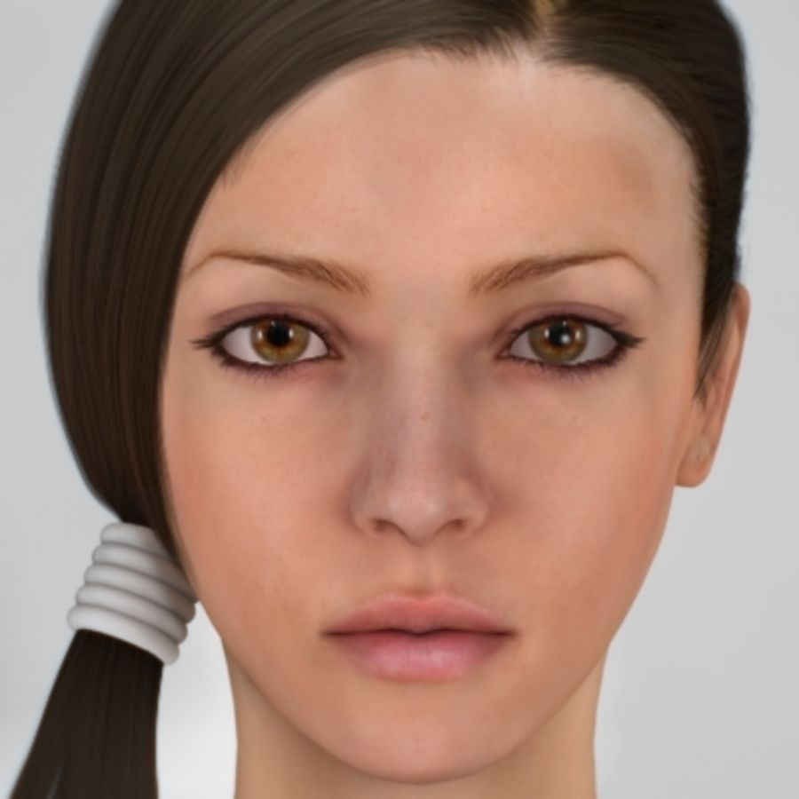 Sonia_head royalty-free 3d model - Preview no. 1