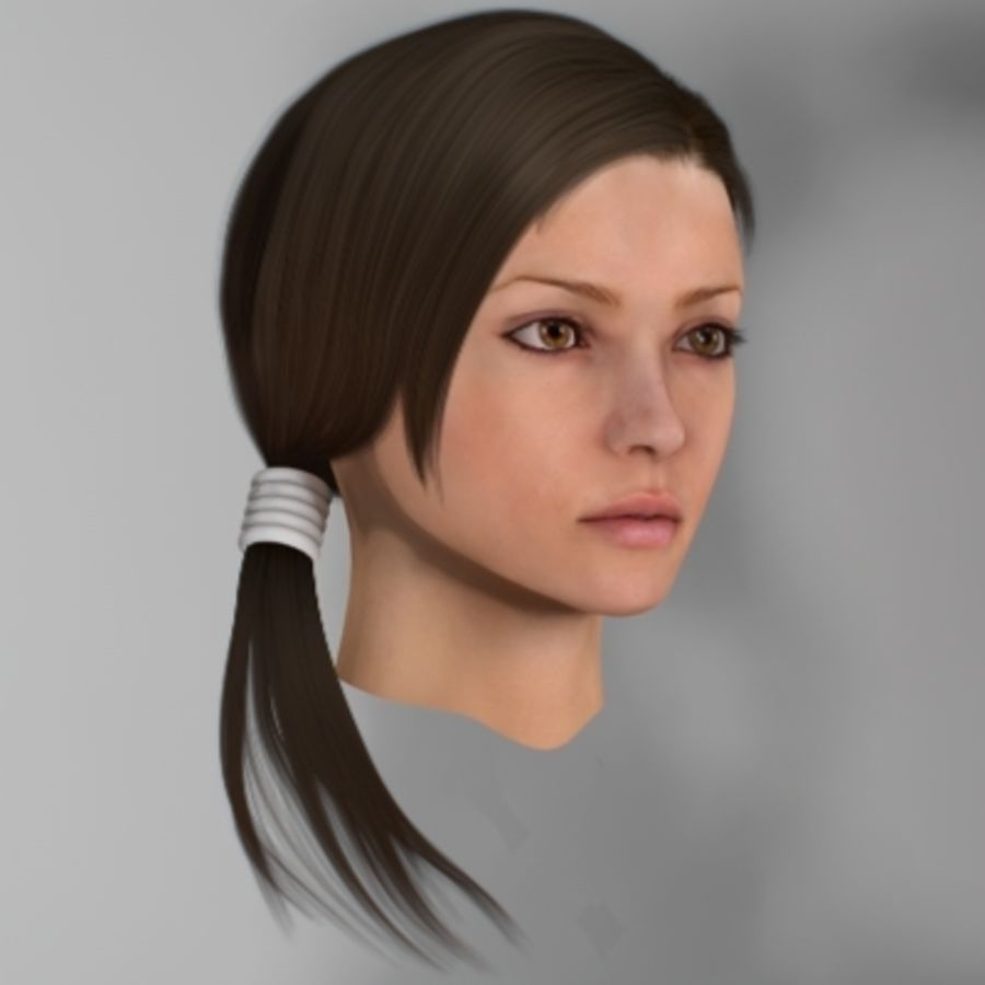 Sonia_head royalty-free 3d model - Preview no. 3