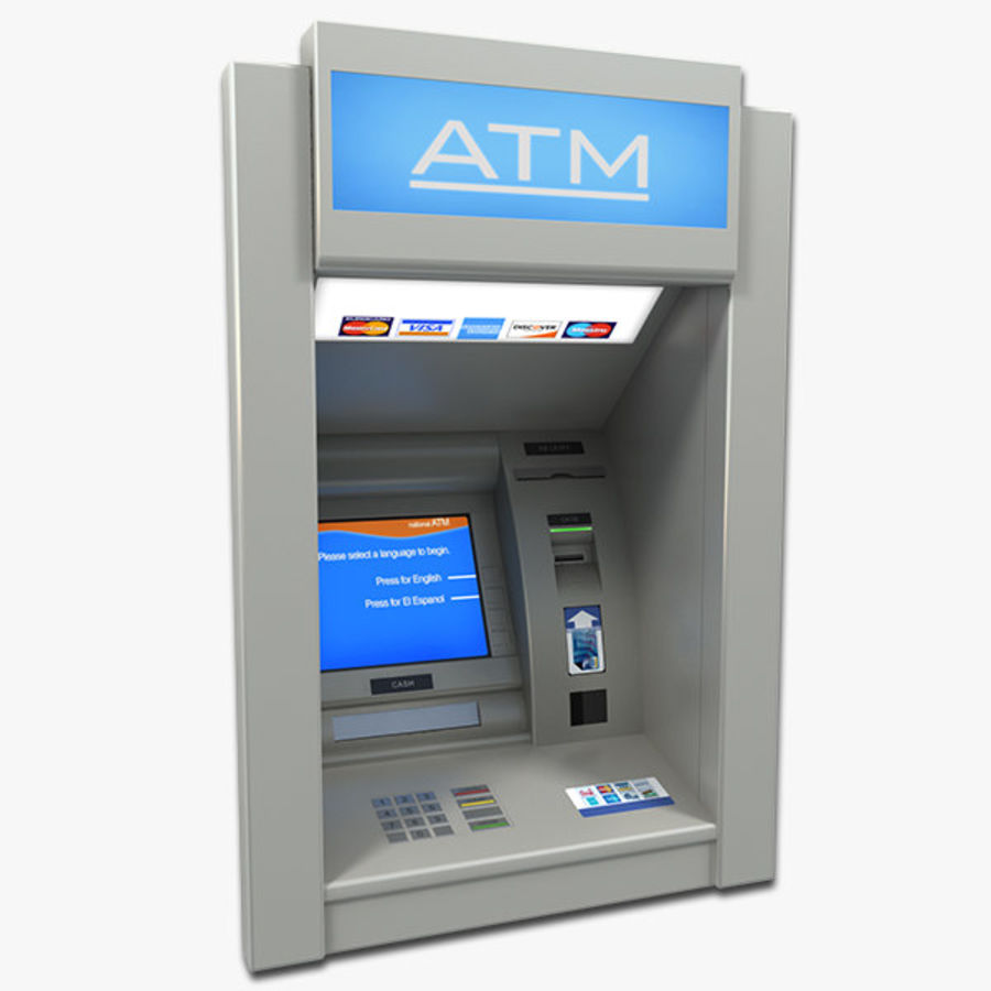ATM 1 royalty-free 3d model - Preview no. 1