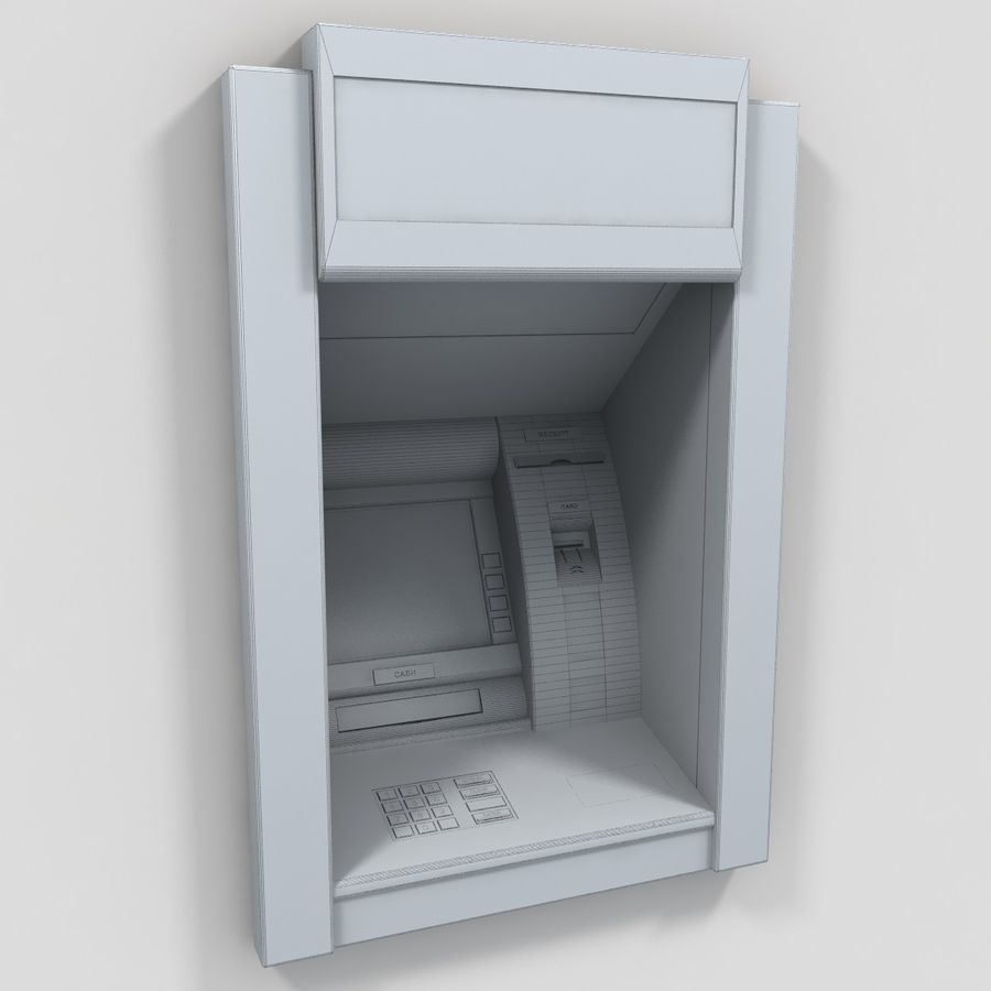 ATM 1 royalty-free 3d model - Preview no. 7
