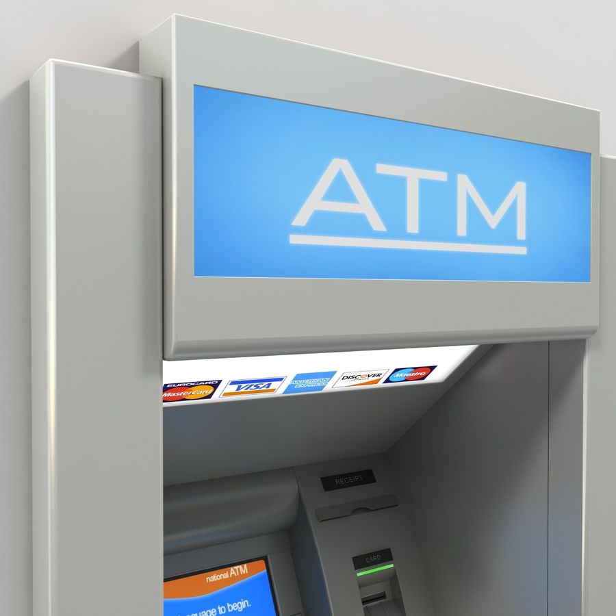 ATM 1 royalty-free 3d model - Preview no. 5