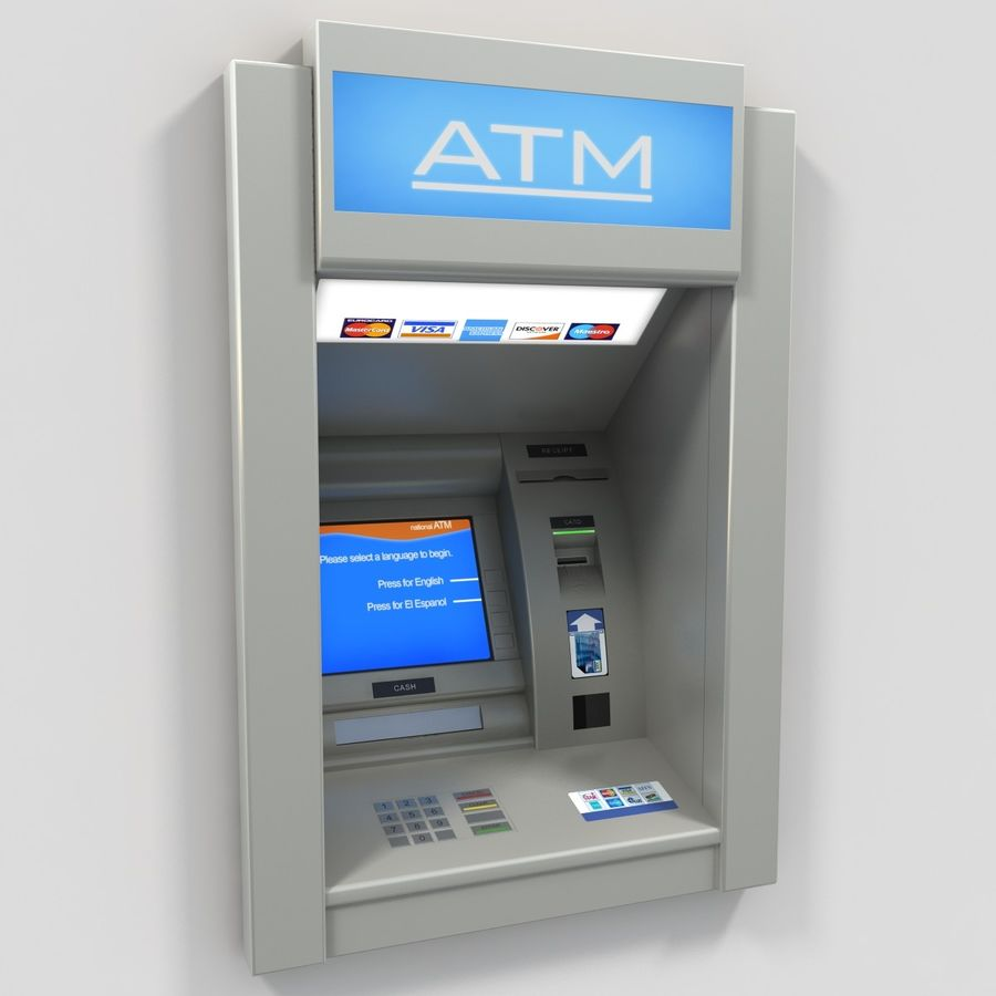 ATM 1 royalty-free 3d model - Preview no. 2