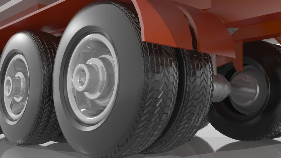 Truck Trailer royalty-free 3d model - Preview no. 2