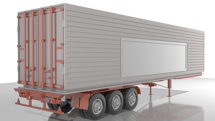 Truck Trailer royalty-free 3d model - Preview no. 3