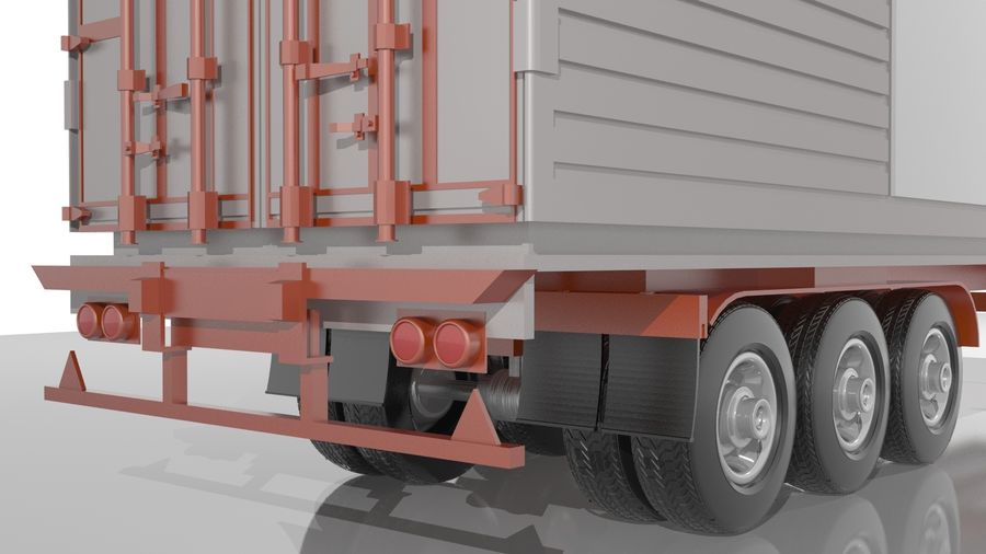 Truck Trailer royalty-free 3d model - Preview no. 1