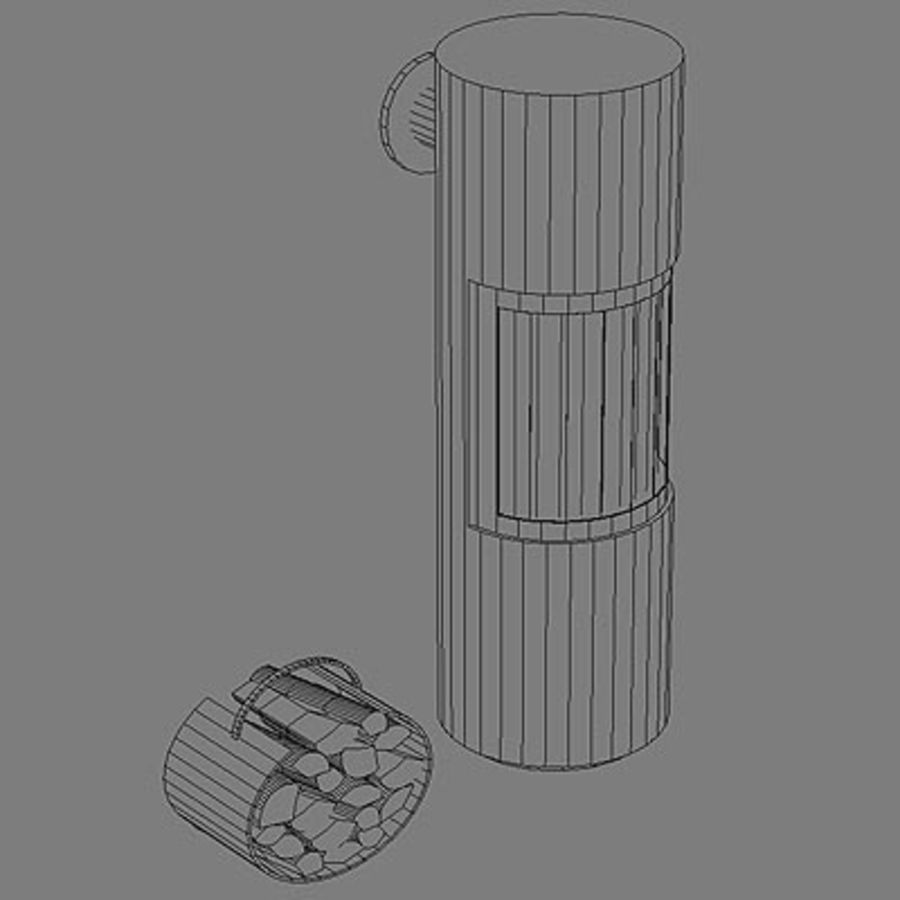 Fireplace cylinder royalty-free 3d model - Preview no. 6