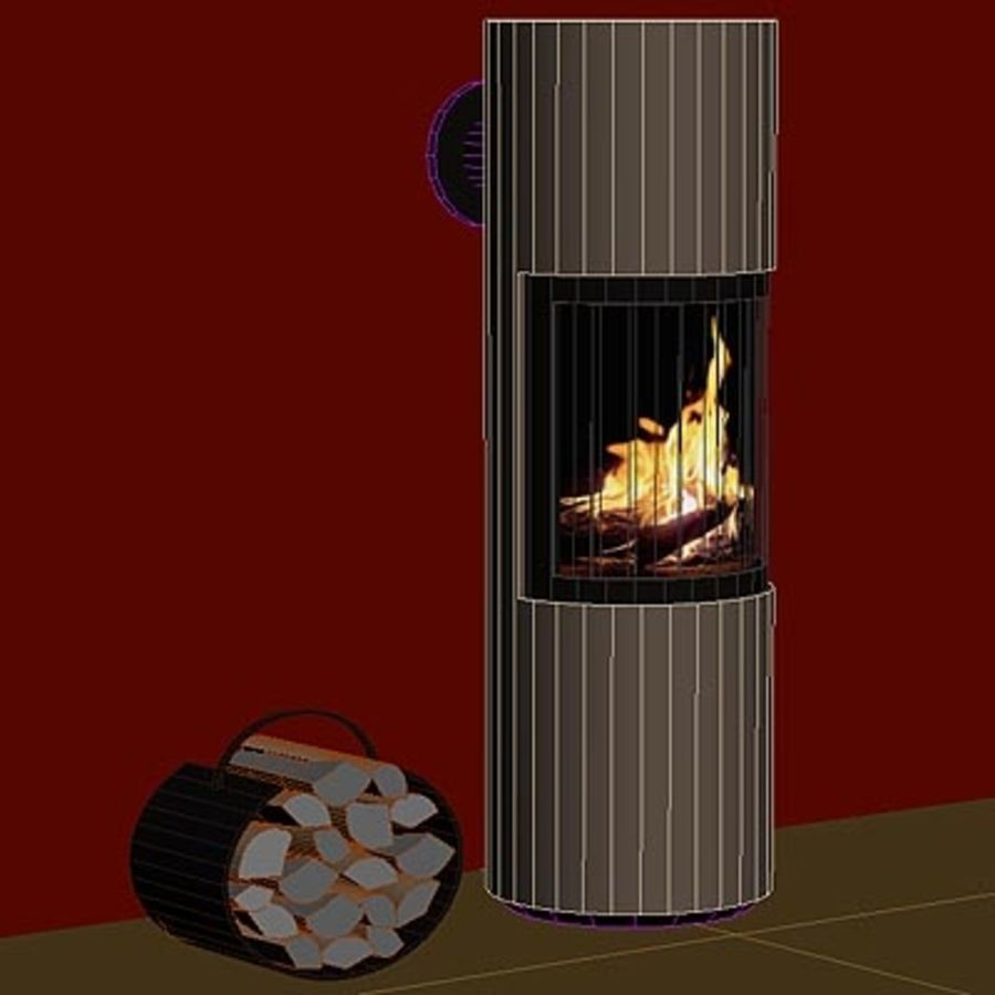 Fireplace cylinder royalty-free 3d model - Preview no. 4