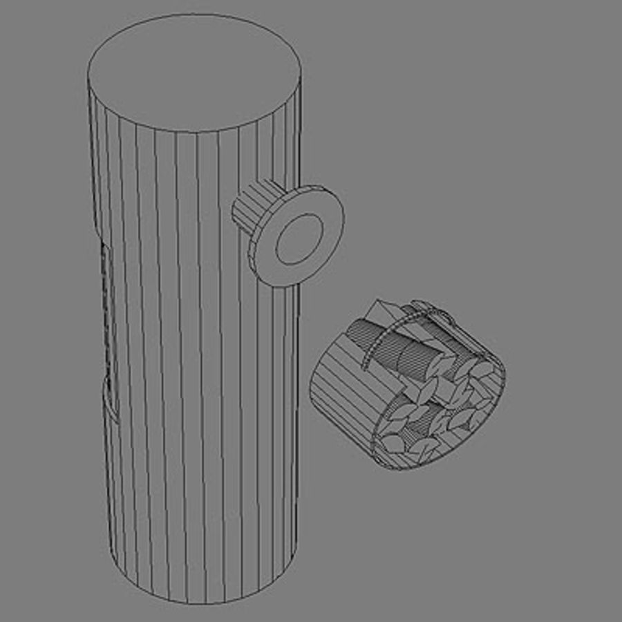 Fireplace cylinder royalty-free 3d model - Preview no. 7