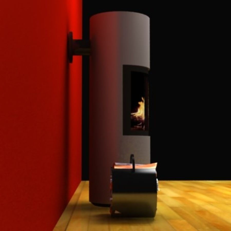 Fireplace cylinder royalty-free 3d model - Preview no. 3