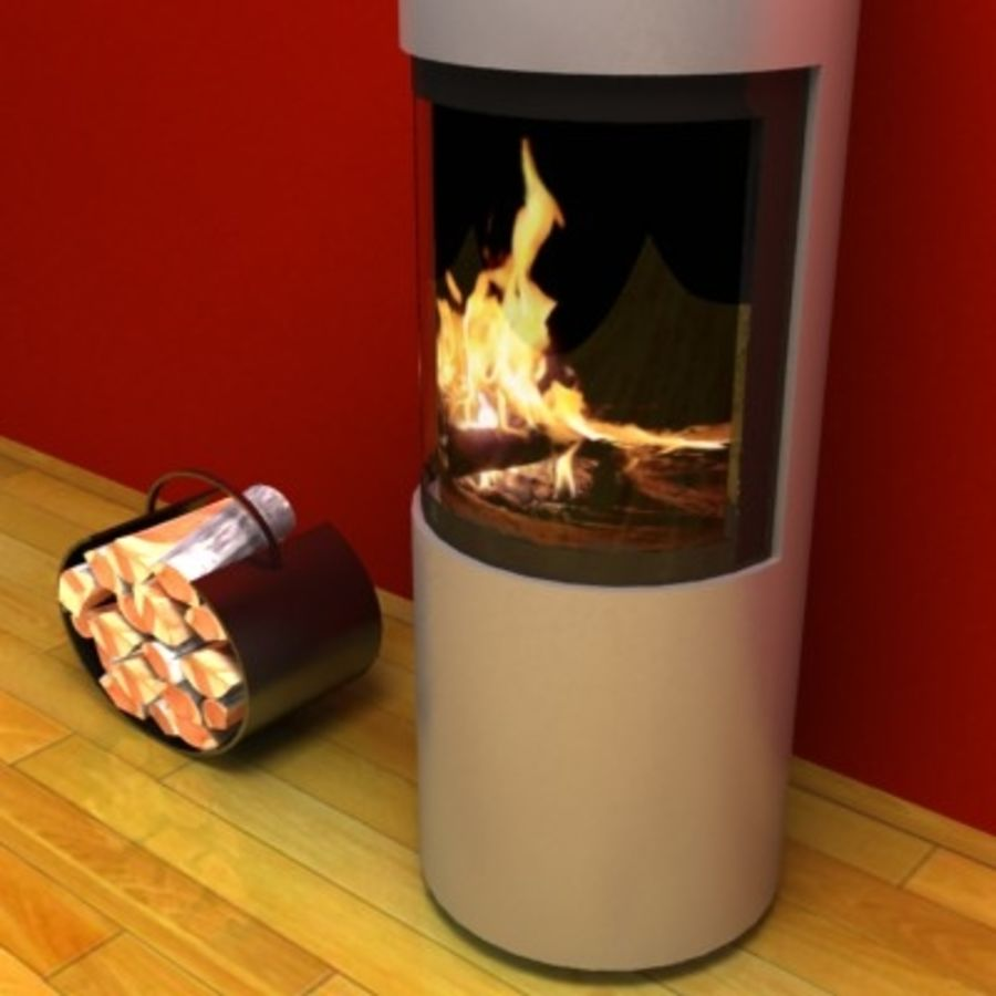 Fireplace cylinder royalty-free 3d model - Preview no. 2