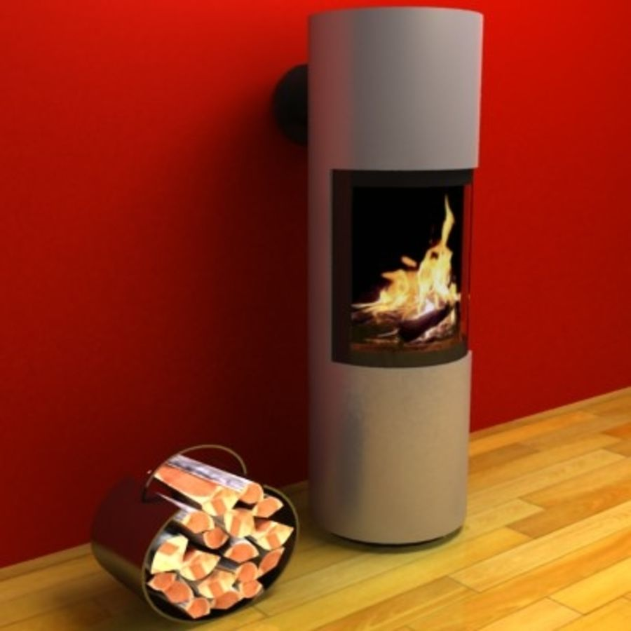 Fireplace cylinder royalty-free 3d model - Preview no. 1