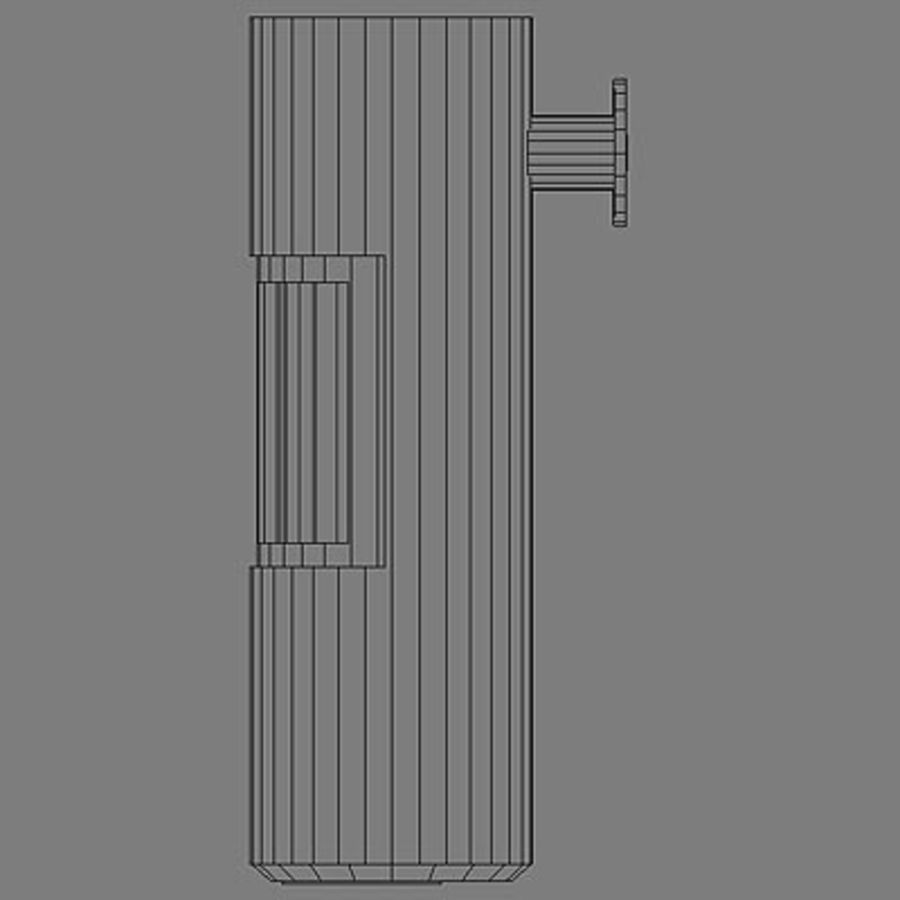 Fireplace cylinder royalty-free 3d model - Preview no. 5