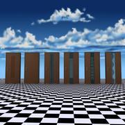 Modern Door Set 1 3d model