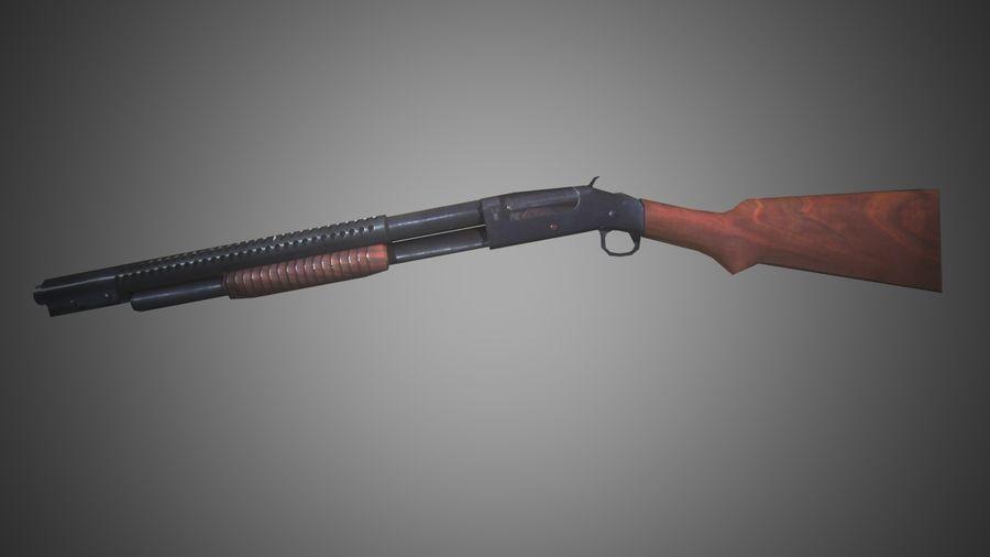 Shotgun WW2 German Trenchgun royalty-free 3d model - Preview no. 5