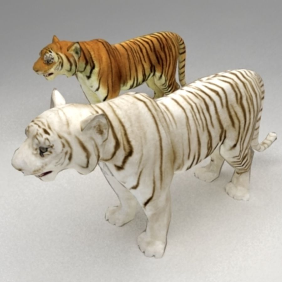 Tiger animated royalty-free 3d model - Preview no. 6