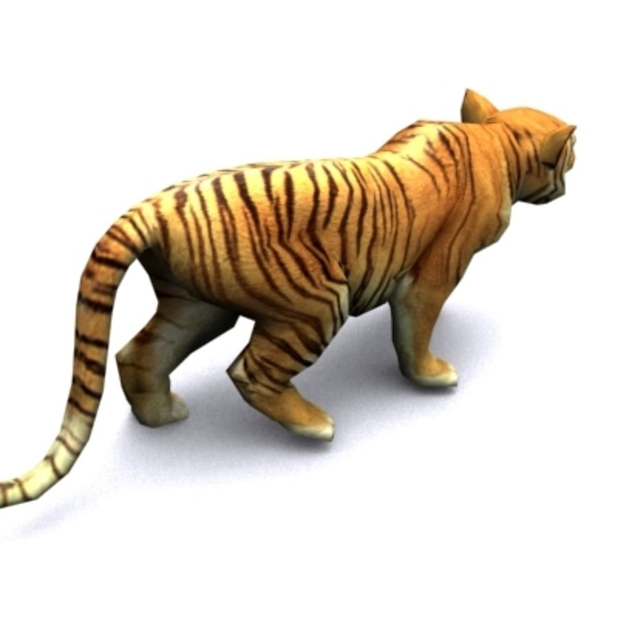 Tiger animated royalty-free 3d model - Preview no. 3