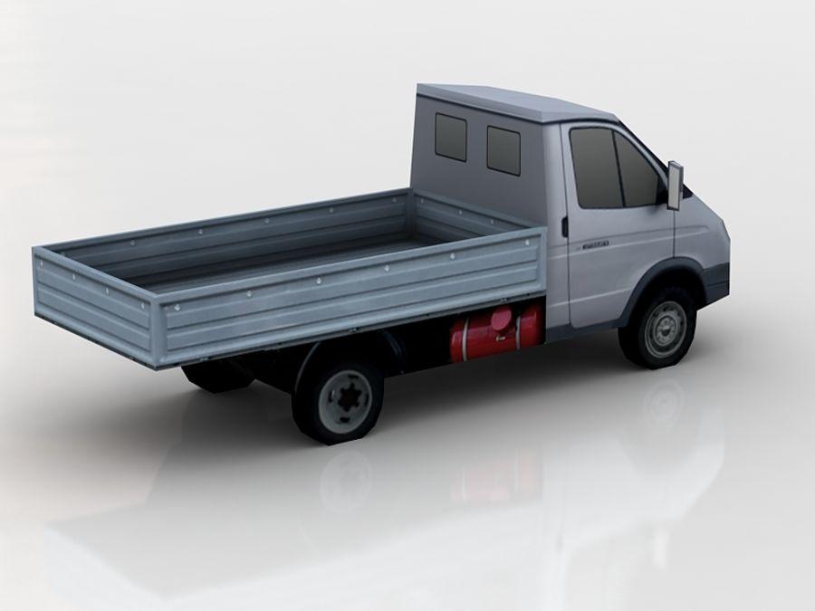 gaz gazel lowpoly royalty-free 3d model - Preview no. 4