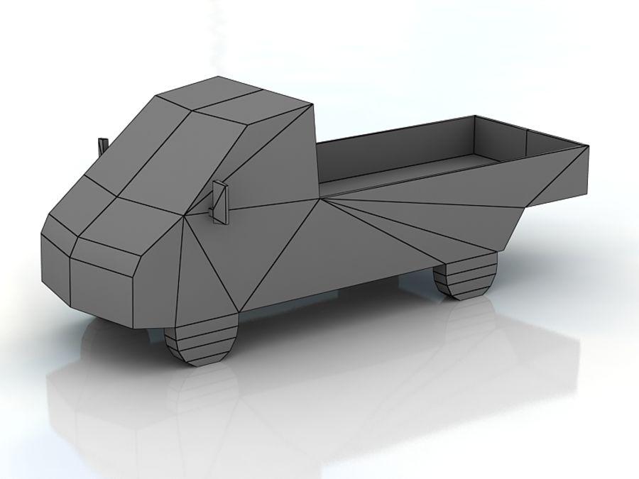 gaz gazel lowpoly royalty-free 3d model - Preview no. 3