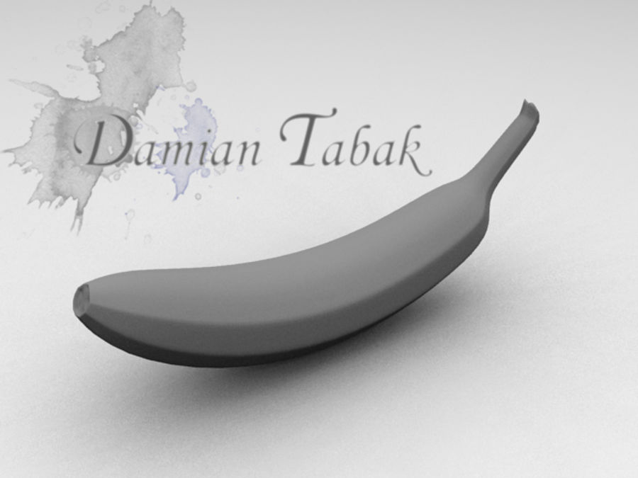banana royalty-free 3d model - Preview no. 2