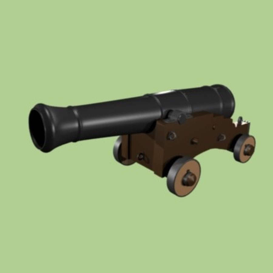 Cannon 1700 royalty-free 3d model - Preview no. 1