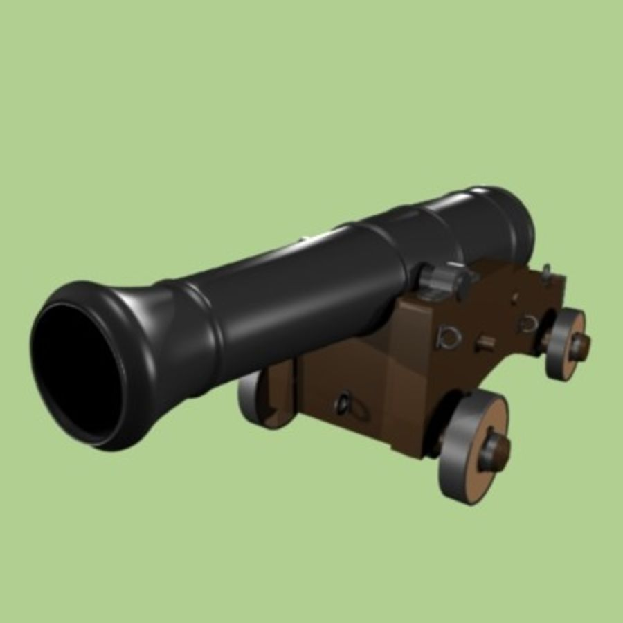 Cannon 1700 royalty-free 3d model - Preview no. 3