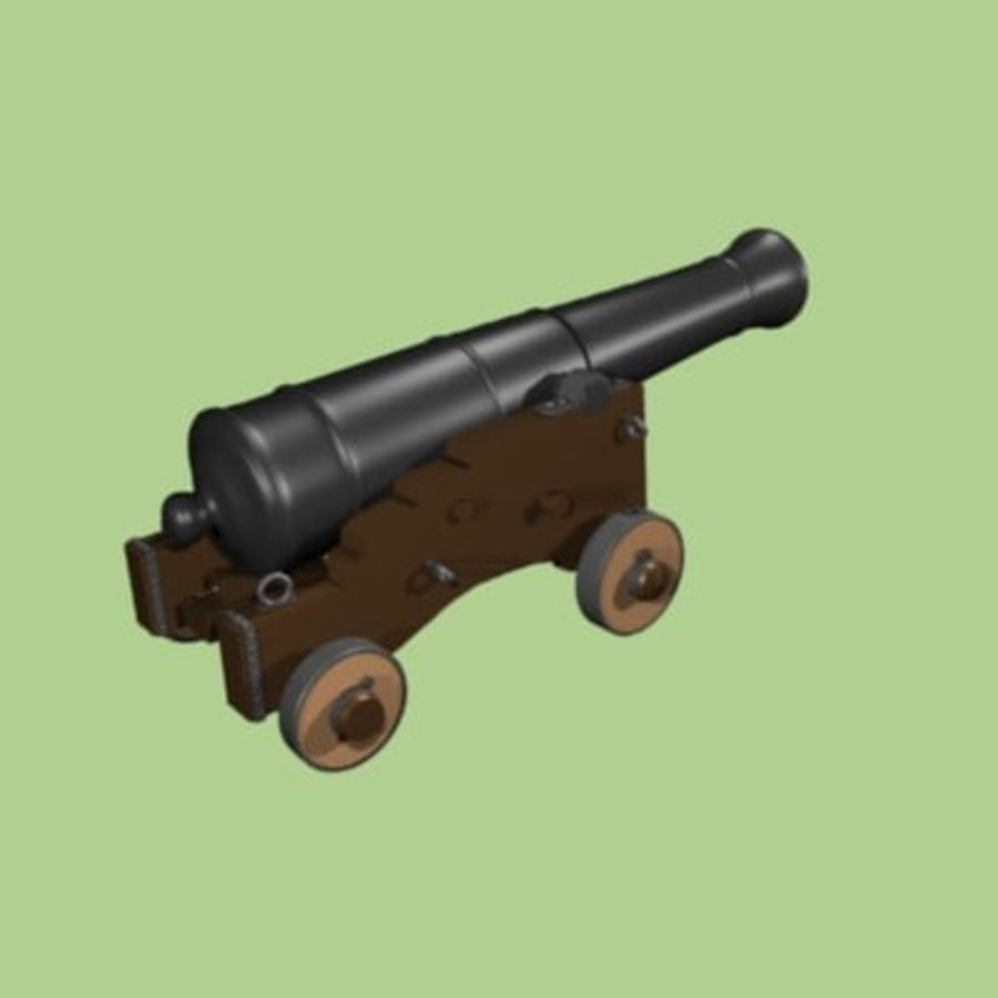 Cannon 1700 royalty-free 3d model - Preview no. 2