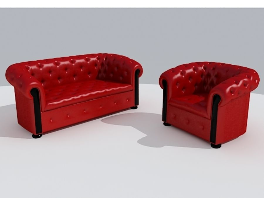 Couch Sofa royalty-free 3d model - Preview no. 5