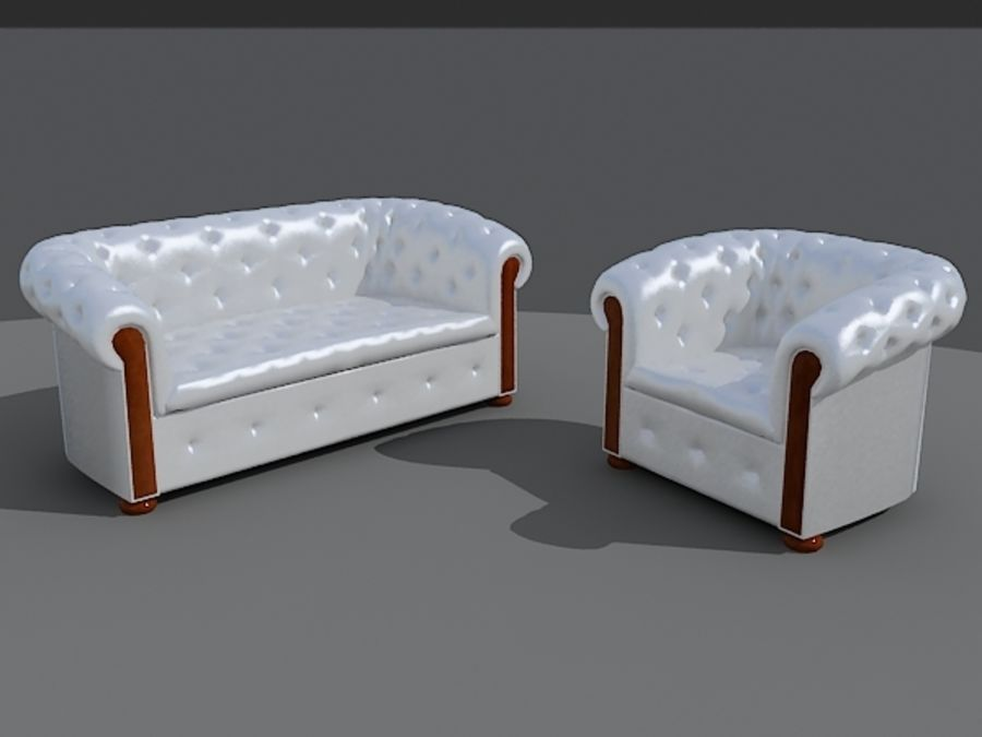 Couch Sofa royalty-free 3d model - Preview no. 2