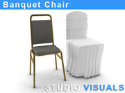 Cadeira do banquete 3d model