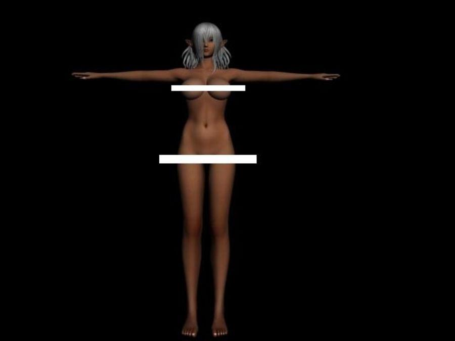 Dark Elf.max royalty-free 3d model - Preview no. 3