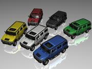 Hummer H2 (6 colours) 3d model