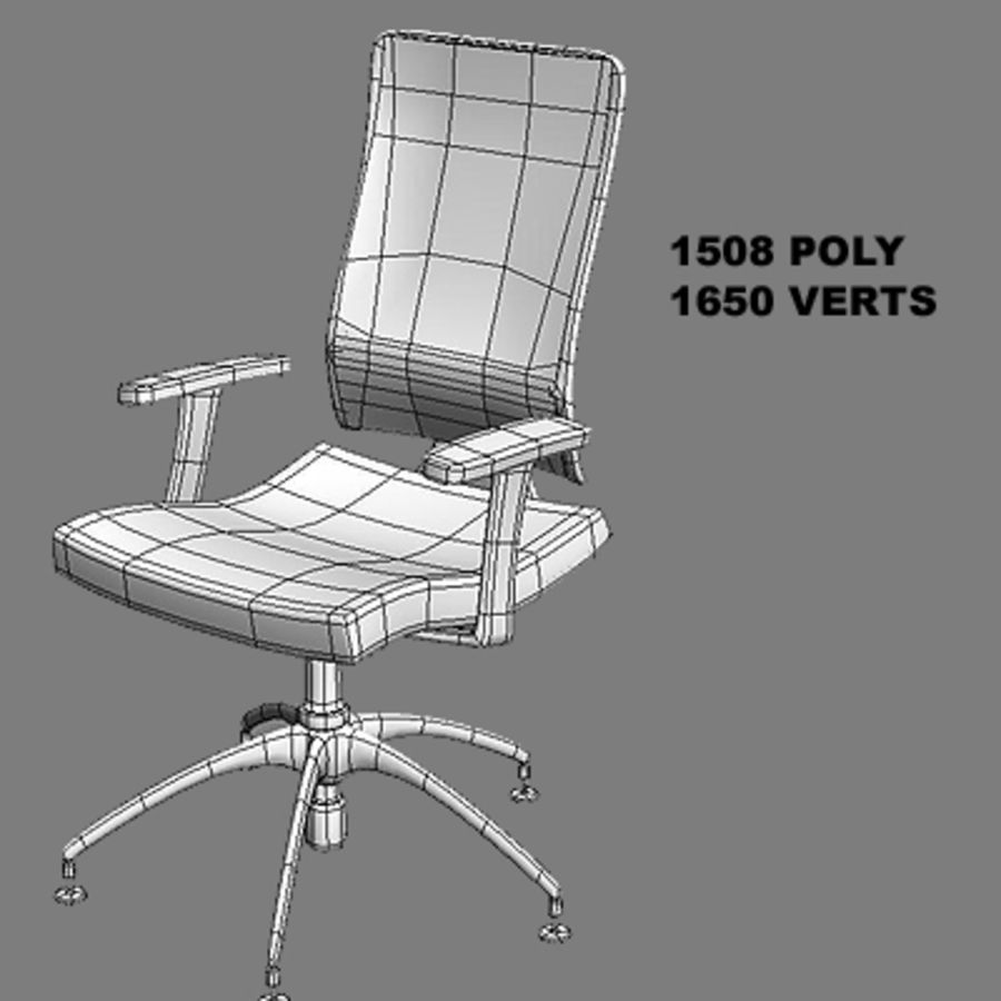 Bureaustoelen & bureau royalty-free 3d model - Preview no. 5